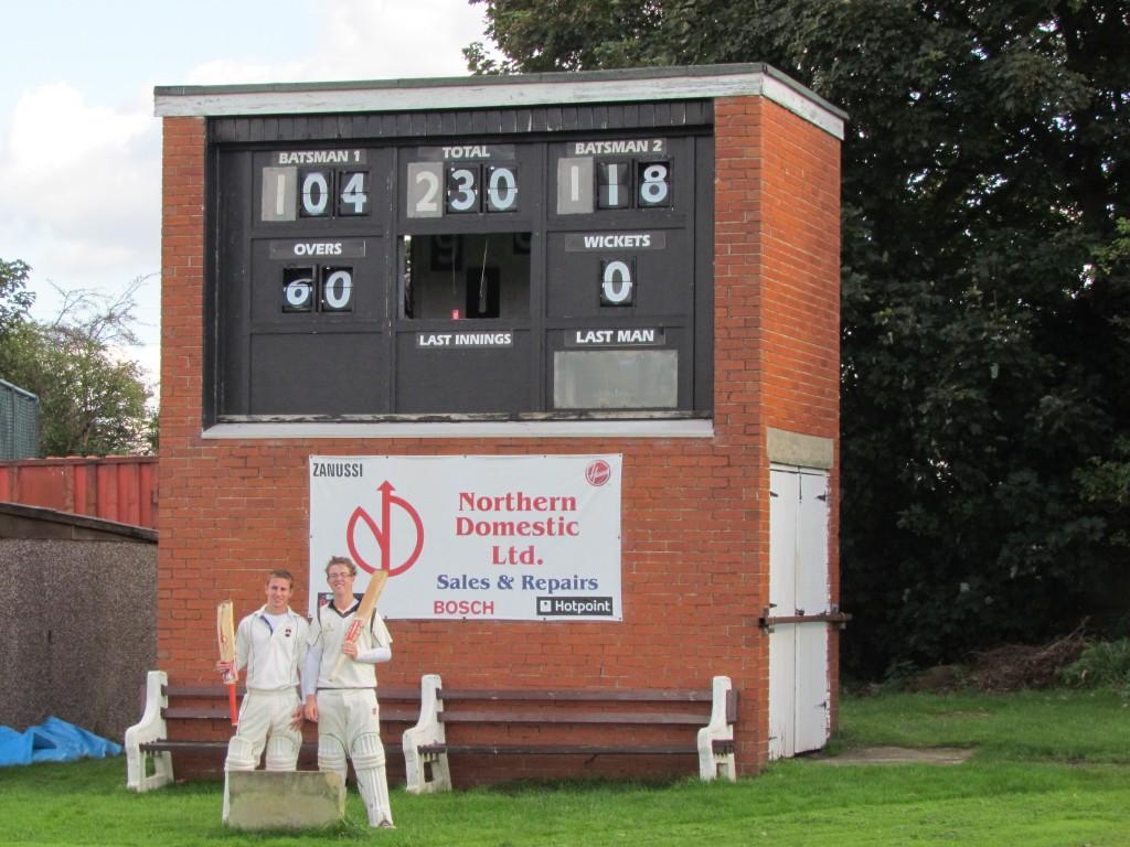 Liversedge Cricket Club scorebox