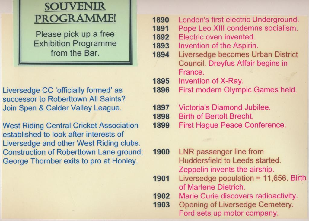 Timeline 1890-1903