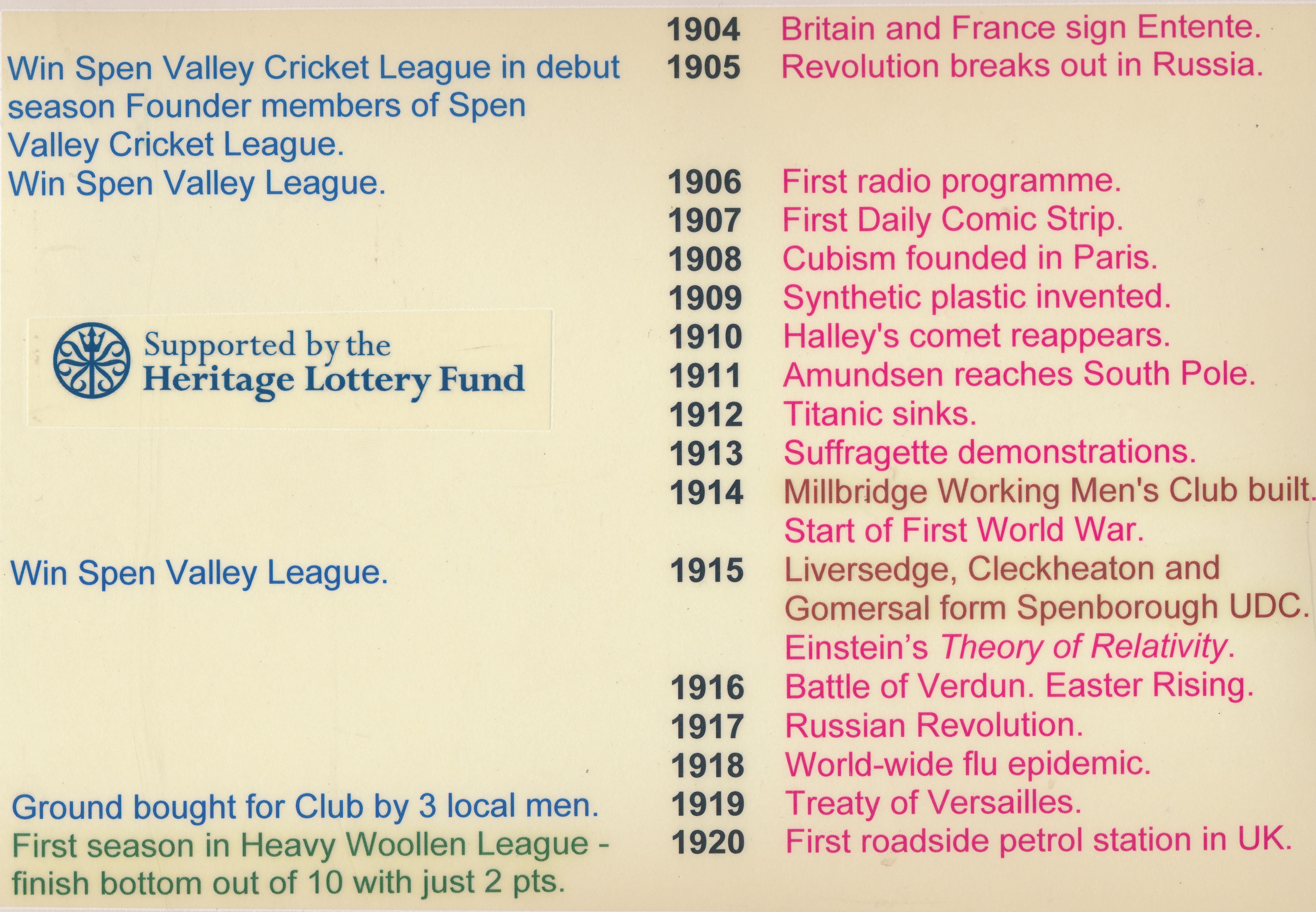 liversedge cc timeline 1883  u2013 2005  u2013 liversedge cricket club
