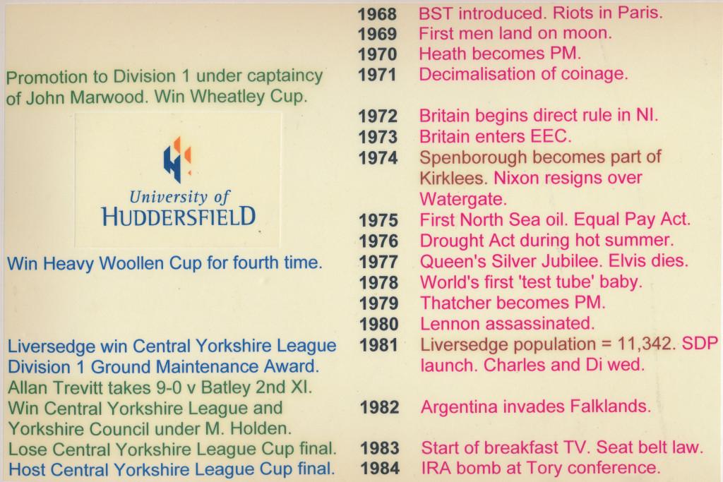 Timeline 1968-1984