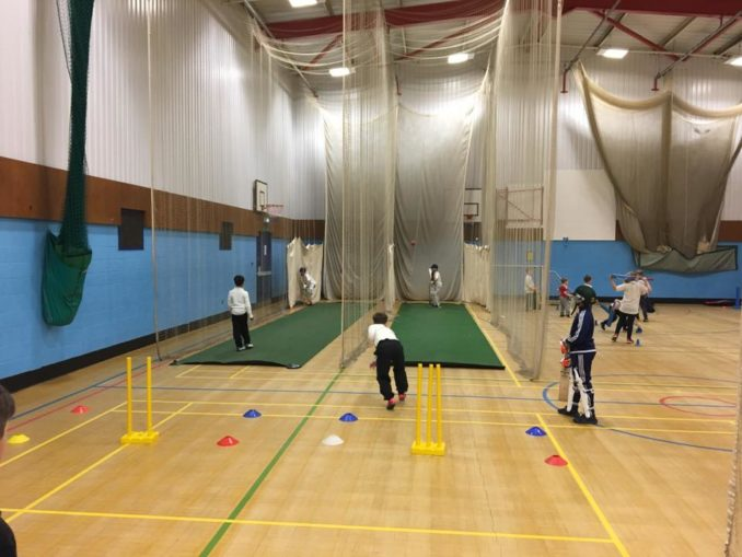 Winter cricket training